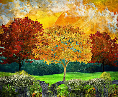 Mixed Media - Autumn Fantasy by Ally White