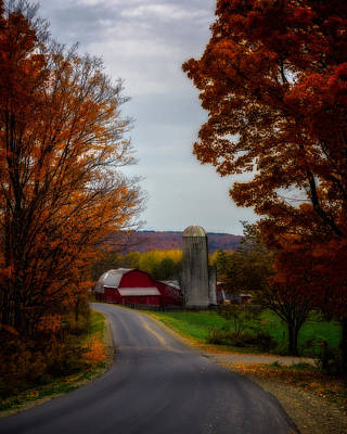 Photograph - Autumn Farm by Chris Bordeleau