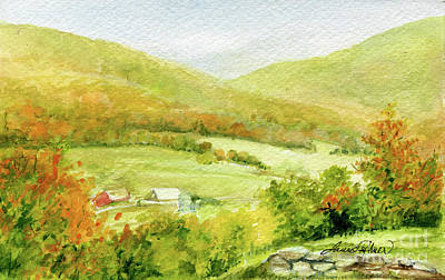 Painting - Autumn Farm In Vermont by Laurie Rohner