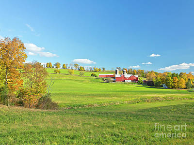 Photograph - Autumn Farm by Stephen Shub