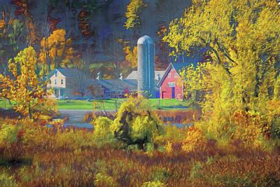 Photograph - Autumn Farm by Tom Singleton