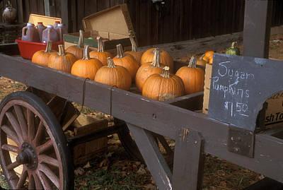 Autumn Farmstand Art Print by John Burk
