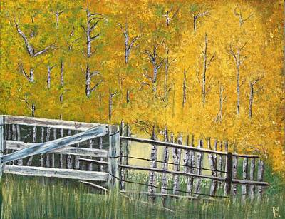 Painting - Autumn Fence by Art By Ryker