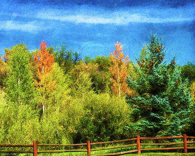 Photograph - Autumn Fenced by Mike Braun