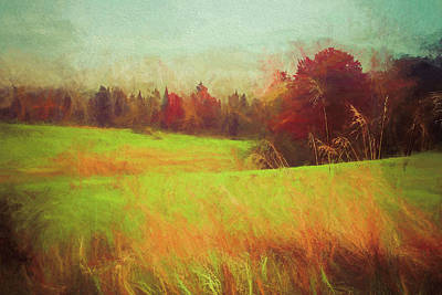Painting - Autumn Field New Hampshire by Dan Sproul