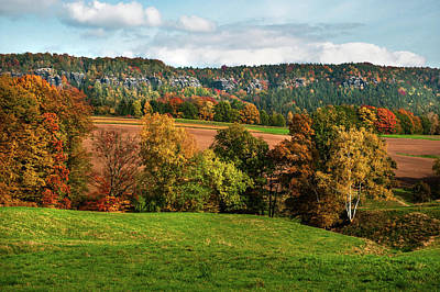 Photograph - Autumn Fields. Germany by Jenny Rainbow