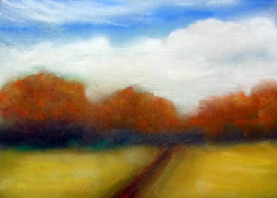 Drawing - Autumn Fields by Katy Hawk