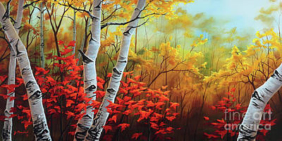 Painting - Autumn Fire by Joe Mandrick