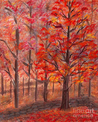 Painting - Autumn Fire by Kristen Fox