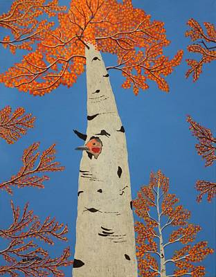 Painting - Autumn Flicker by Ralph Root