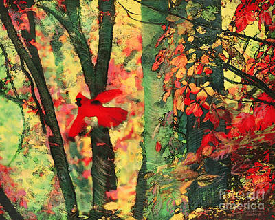 Digital Art - Autumn Flight by Gina Signore