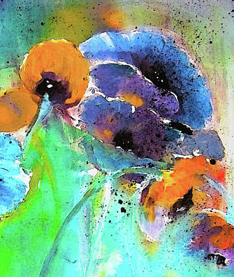 Impressionism Painting - Autumn Floral Breeze by Lisa Kaiser