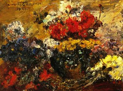 Painting - Autumn Flowers 1923 by Corinth Lovis