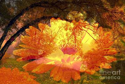 Photograph - Autumn Flowers And Landscape by Annie Zeno