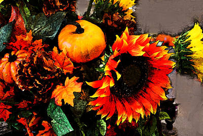 Photograph - Autumn Flowers by Susan Vineyard