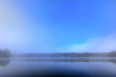 Art Print featuring the photograph Autumn Fog Over West Lake by David Patterson