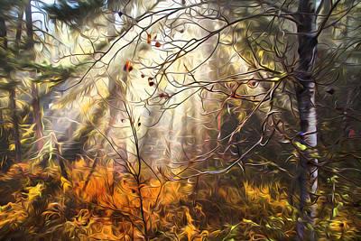 Photograph - Autumn Fog by Theresa Tahara