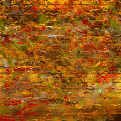Autumn Foliage Abstract Art Print by Lourry Legarde