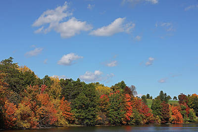 Photograph - Autumn Foliage Along The Banks Of Green Hill Pond by Juergen Roth