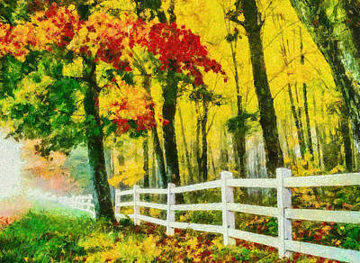 Trees Painting - Autumn Forest Art - Colorful Landscape Painting by Wall Art Prints