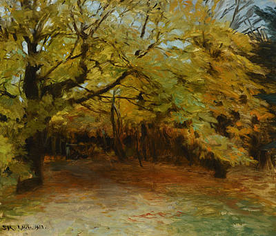 Autumn Forest At Skagen Print by Celestial Images