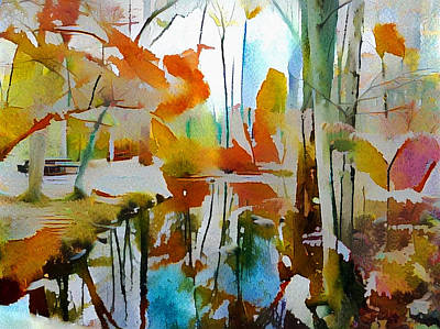 Digital Art - Autumn Forest by Bruce Rolff