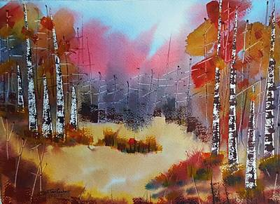 Painting - Autumn Forest  by Tom Conboy