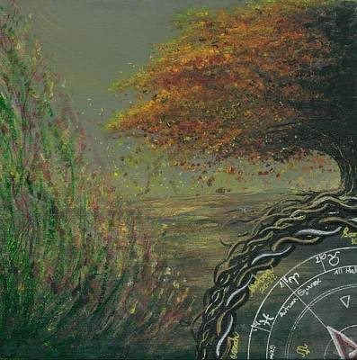 Painting - Autumn Four Seasons Quadriptych, 3 Of 4 by Stacey Austin