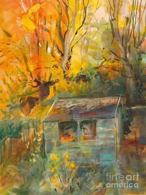 Autumn Garden 2 Original by Sandra Haney