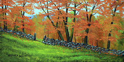 Painting - Autumn Gate by Frank Wilson