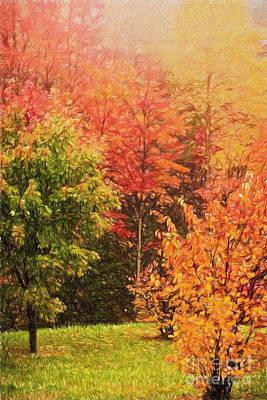 Autumn Gathering Ap Art Print
