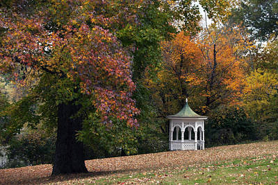 Autumn Gazebo Art Print