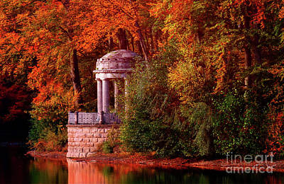 Autumn Gazebo Art Print by KaFra Art