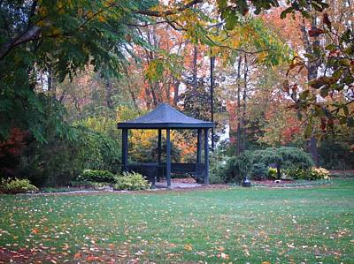 Photograph - Autumn Gazebo by MTBobbins Photography