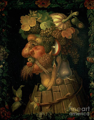 Mushrooms Painting - Autumn by Giuseppe Arcimboldo