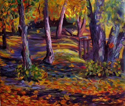 Trees Painting - Autumn Glory by Art Nomad Sandra  Hansen