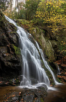 Photograph - Autumn Glory At Spruce Flats Falls by Chris Berrier
