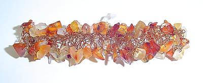 Copper Bracelet Jewelry - Autumn Glory Bangle by Linda Bishop