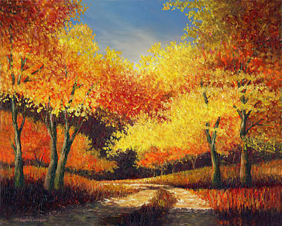 Painting - Autumn Glory In Oil by Douglas Castleman