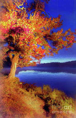 Digital Art - Autumn Glow Before Sunrise In The Blue Ridge Ap by Dan Carmichael