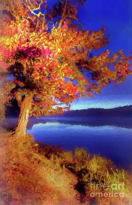 Digital Art - Autumn Glow Before Sunrise In The Blue Ridge Ap by Dan Carmichael