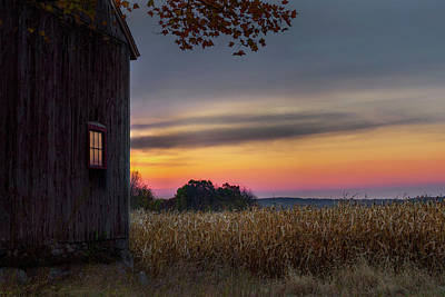 Cornfields Photograph - Autumn Glow by Bill Wakeley