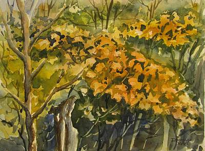 Watercolor Painting - Autumn Glow  by Chito Gonzaga