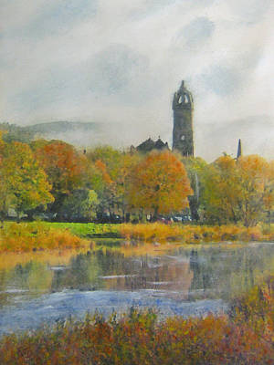 Painting - Autumn Glow Old Parish Church Peebles by Richard James Digance