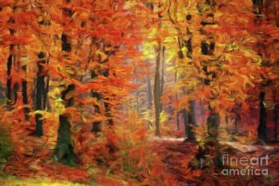 Autumn Glow Art Print