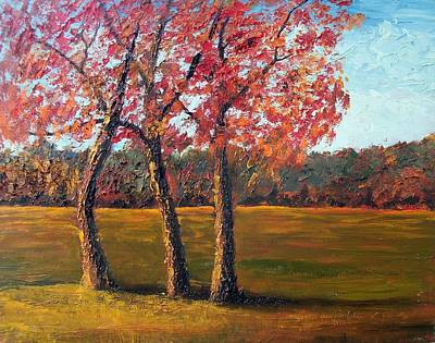 Pallet Knife Painting - Autumn Glow by Tami Booher