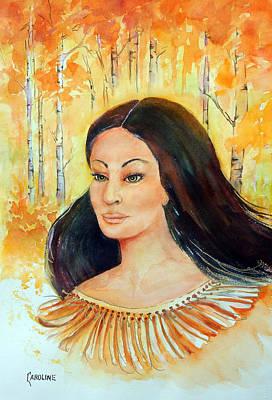 Autumn Goddess Art Print