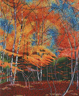 Wall Art - Painting - Autumn Gold by Hayley Buchanan