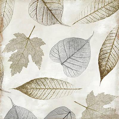 Autumn Gold Leaf Pattern II Art Print