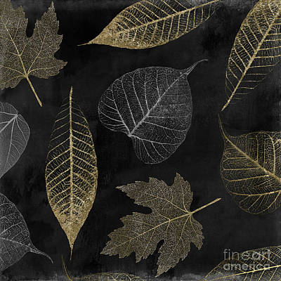 Painting - Autumn Gold Leaf Pattern by Mindy Sommers